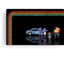 E-Swat - Cyber Police pixel art Canvas Print
