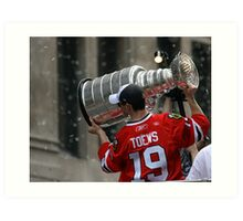 TAZER WITH THE STANLEY CUP! Art Print