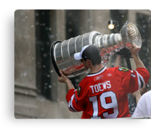 TAZER WITH THE STANLEY CUP! Metal Print