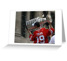 TAZER WITH THE STANLEY CUP! Greeting Card