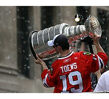 TAZER WITH THE STANLEY CUP! Photographic Print