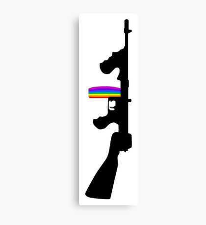 Machine Gun Silhouette - Tommy Gun Edition Canvas Print