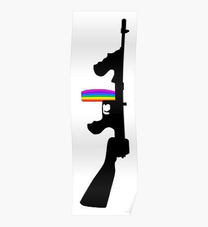 Machine Gun Silhouette - Tommy Gun Edition Poster