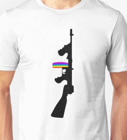 Machine Gun Silhouette - Tommy Gun Edition Unisex T-Shirt