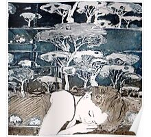 """""""Dreaming of Life"""" Aquatint Etching Poster"""