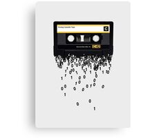 The death of the cassette tape. Canvas Print