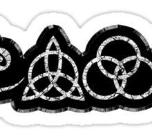 TRIQUETRA - BLACK METAL STICKER Sticker