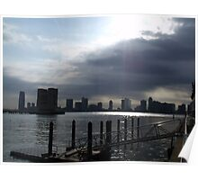 End of a storm by the Hudson Poster