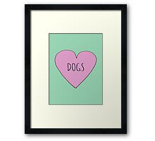 DOG LOVE Framed Print