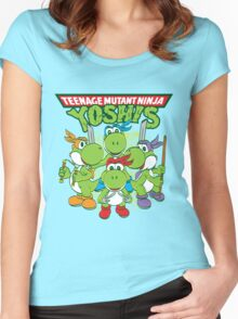 Teenage Mutant Ninja Yoshis Women's Fitted Scoop T-Shirt