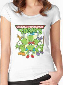 Teenage Mutant Ninja Yoshis Women's Fitted Scoop T-Shirt