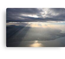 sun breaks the horizon over the peninsula Canvas Print