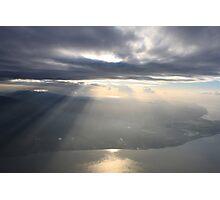 sun breaks the horizon over the peninsula Photographic Print