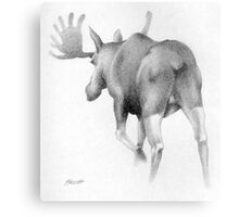 Moose Departing Metal Print