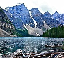 Moraine Lake in Color by Linda Bianic