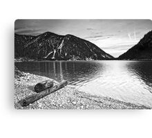 Icy Cold Lake Plan Canvas Print