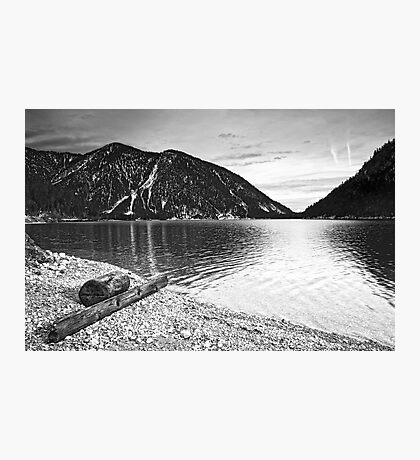 Icy Cold Lake Plan Photographic Print