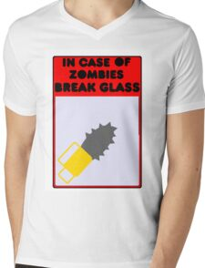 in case of zombies Mens V-Neck T-Shirt