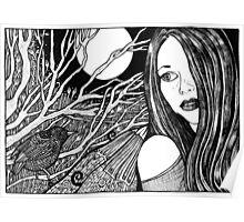Lynsye's Midnight Garden Poster