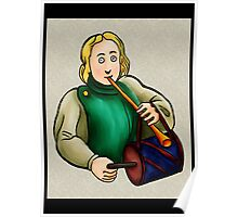 Medieval Musician- Drum Poster