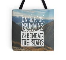 On Top Of Mountains Tote Bag