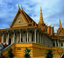Throne Hall, Royal Palace complex, Phnom Penh by Maggie Woods