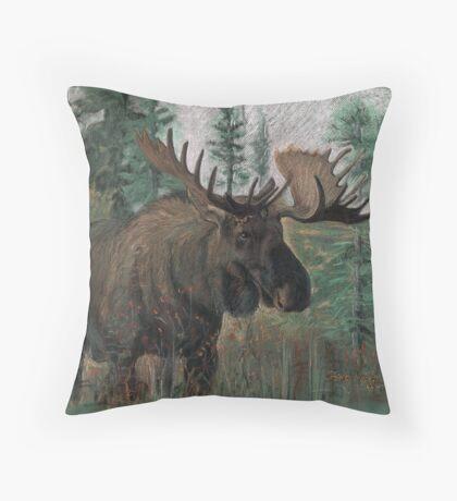 The Moose Throw Pillow