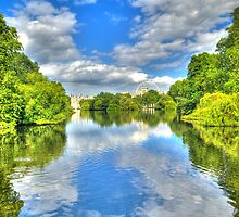 Mirrored in St James's Park, London (HDR) by JLaverty