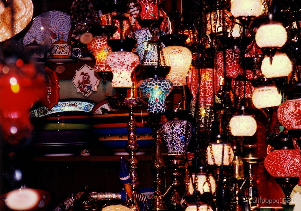 lamps in the spice bazaar,istanbul by califpoppy1621