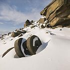 Stanage Millstones in the Snow by Jonnyfez