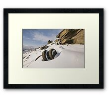 Stanage Millstones in the Snow Framed Print