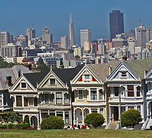 Painted Ladies - San Francisco #1 by David J Dionne