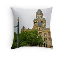 Courthouse and Locust Throw Pillow