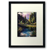 Merced River Bank Framed Print