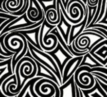 black and white shape abstract Sticker