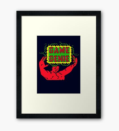 Game Genie Framed Print
