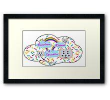 Rainbows, Kittens & Sprinkles Framed Print