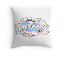 Rainbows, Kittens & Sprinkles Throw Pillow
