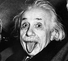 Albert Einstein Tongue by GodsAutopsy