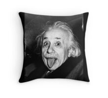 Albert Einstein Tongue Throw Pillow