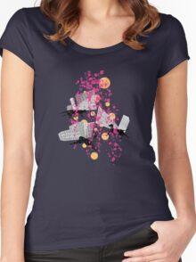 weird city sunset Women's Fitted Scoop T-Shirt