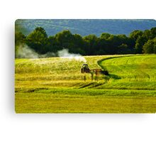 Making Hay In PA Canvas Print