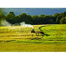 Making Hay In PA Photographic Print