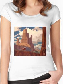 Red Rock Country Women's Fitted Scoop T-Shirt