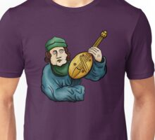 Medieval Musician- Lute Unisex T-Shirt