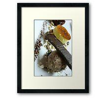 Chocolate texture Framed Print