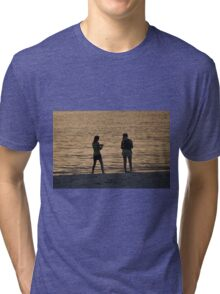 The Girls on the Beach, As Is Tri-blend T-Shirt