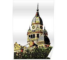 Courthouse Illustration Poster