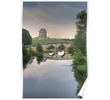 New River Bridge and Mausoleum, Castle Howard  Poster