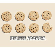 Delete Cookies (Beige) Photographic Print